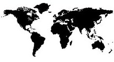 Marabu distribution partners on a world map